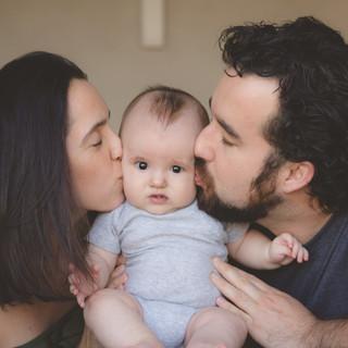 Camila, Benício e Guto