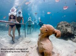 Statue underwater
