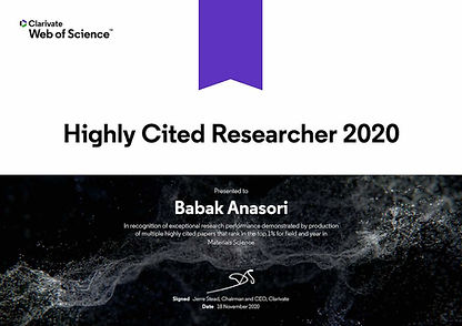 Highly Cited Researcher Award-2020_Anaso