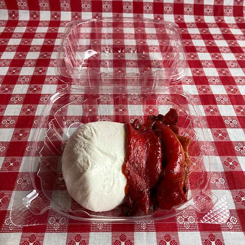 Roasted Red Bell Peppers & Burrata
