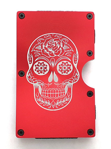Minimalist RFID Wallet - Sugar Skull