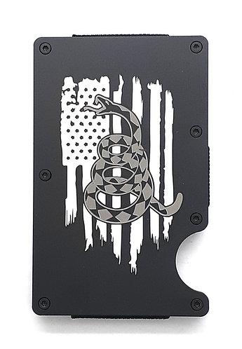 Minimalist RFID Wallet - US flag with DTOM snake