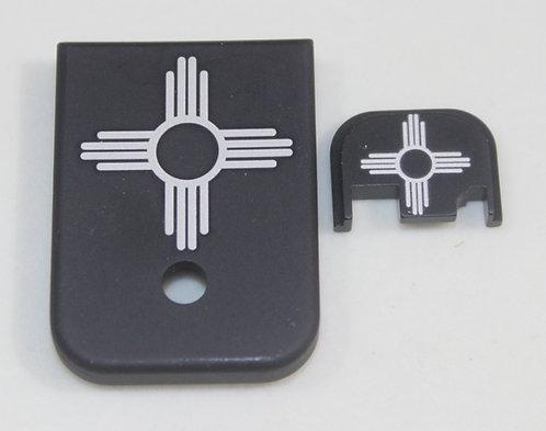 Matching magazine & back plates for Glock 1 - 4