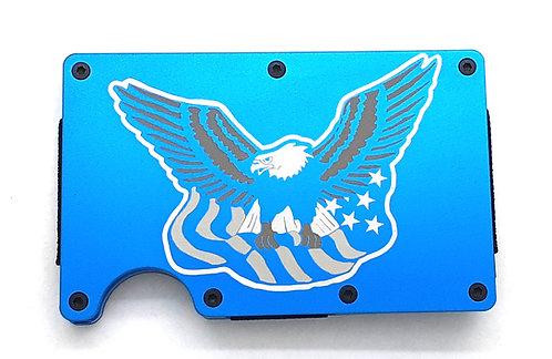 Minimalist RFID Wallet - Eagle with U.S. Flag
