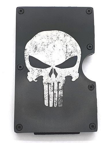 Minimalist RFID Wallet - Punisher - distressed look