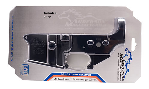 AR15 Stripped Lower 100% Receiver - Retail Packaging