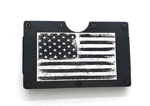 Minimalist RFID Wallet - U.S. flag (distressed)