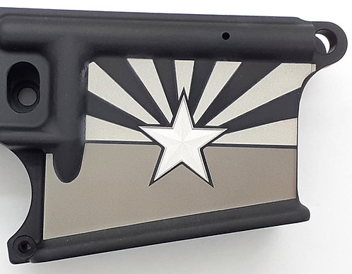 AR15 Lower Receiver - AZ State Flag with 3D Star