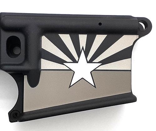 AR15 Lower Receiver - AZ State Flag with Flat Star