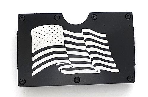 Minimalist RFID Wallet - U.S. Flag