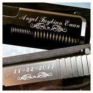 Some engraving done on customers Glock.