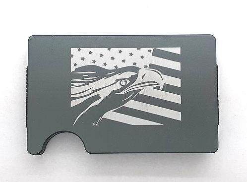 Minimalist RFID Wallet - U.S. Flag w/Eagle