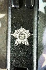 AZ Rangers badge engraved on customers G
