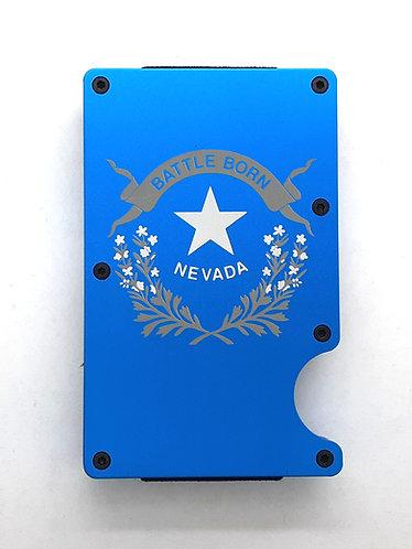 Minimalist RFID Wallet - Nevada State Flag