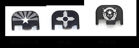 Glock Gen 1 - 4 slide plate.  U.S. State Flags