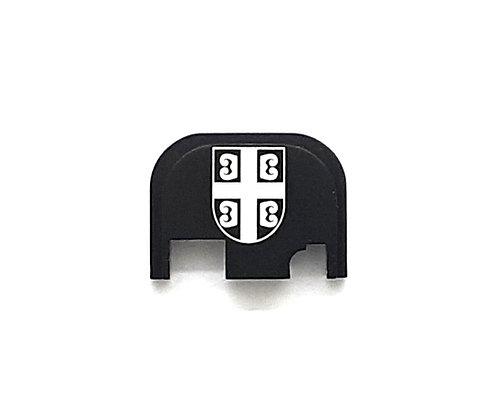 Glock Gen 1 - 4 slide plate - Serbian Flag