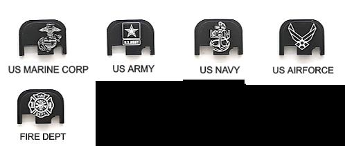 Glock Gen 1 - 4 slide plate. Military - First Responders
