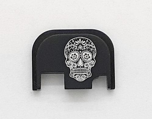 Glock Gen 1 - 4 slide plate - Sugar Skull