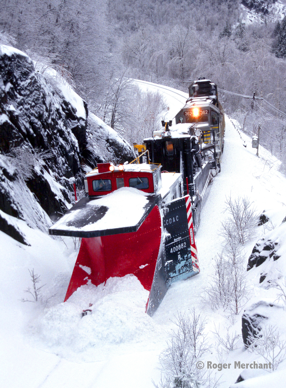 CDAC Snowplow at Camp XII Curve