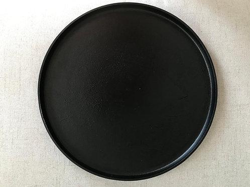 Decoratie blad zwart staal