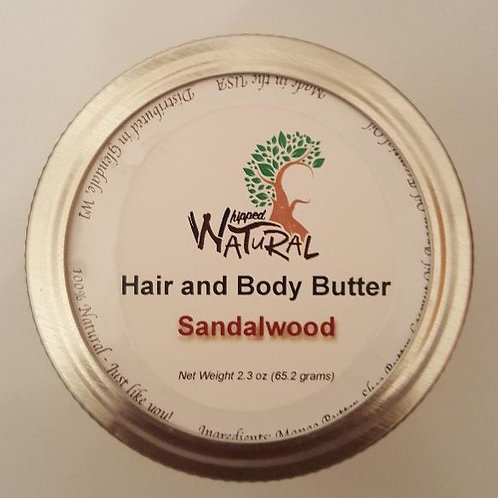 SANDALWOOD - Whipped Hair and Body Butter (Small)
