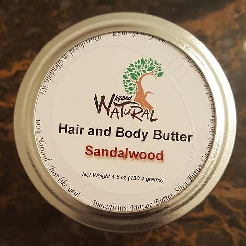 SANDALWOOD - Whipped Hair and Body Butter (Large)