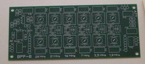 Печатная плата полосовых фильтров   «BPF-6» КВ трансивера на 6 диапазонов