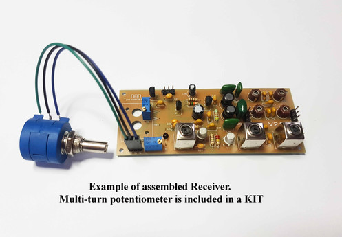 Simple 3-band Ham radio receiver direct conversion 7,14,21MHZ+multi-turn 10K