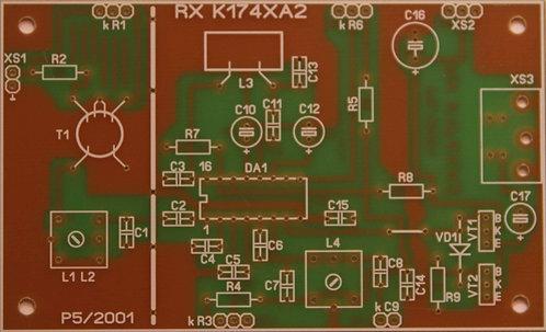 Печатная плата приемника на микросхеме К174ХА2