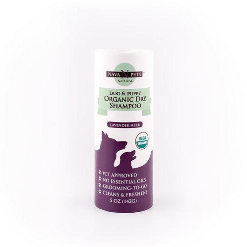 Organic Dry Dog & Puppy Shampoo, Lavender Herb