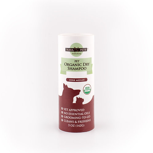 Organic Dry Pet Shampoo, Herb Medley