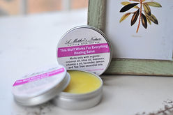 """A Mother's Nature """"This Stuff Works for Everything Healing Salve"""" promotes healing and tissue regeneration. Great for use on small cuts, burns and dry or irritated skin as well as bug bites and stings!"""
