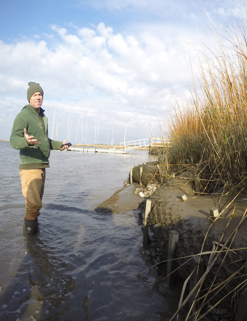 Josh and living shoreline