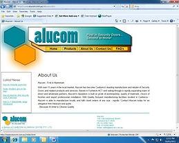Alucom web site