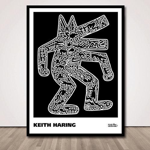 키스해링 독   Dog, 1985