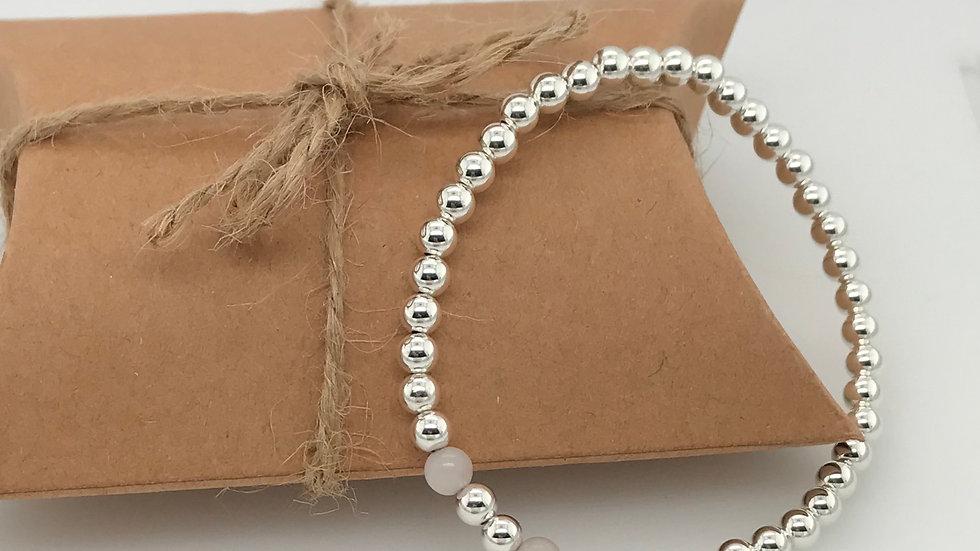 FJ Jewellery Rose Quartz Bead Bracelet