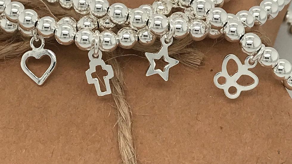 FJ Jewellery Cherish Charm Bead Bracelet