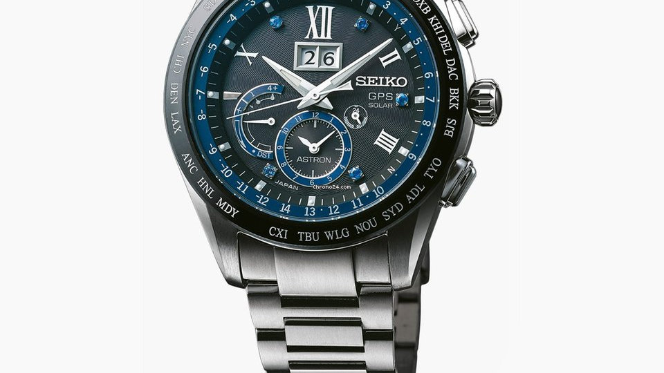 Seiko Limited Edition Seiko Astron Solar Big Date Watch SSE145J1