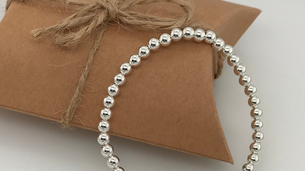 FJ Jewellery Howlite Bead Bracelet
