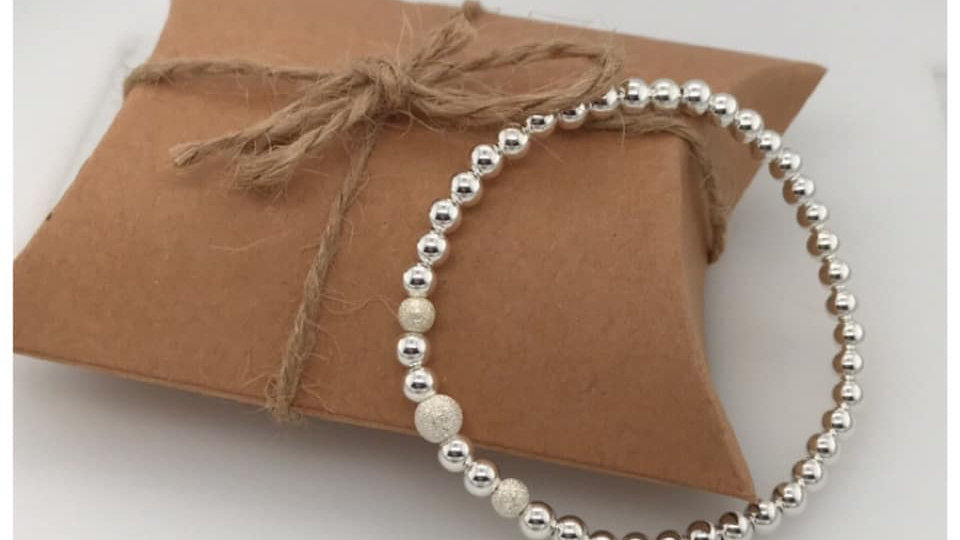 FJ Jewellery Frosted Beads Bracelet