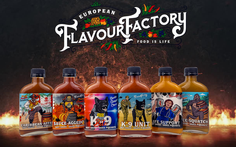 A six pack that leaves your tastebuds craving more. European Flavour Factory