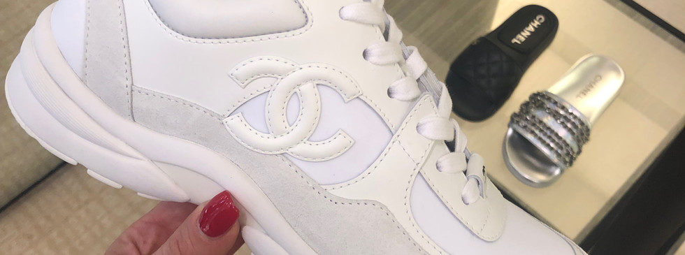 Chanel All White Trainers