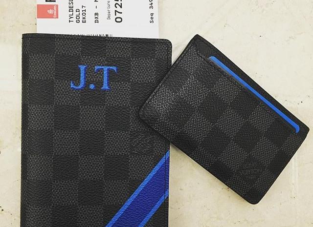 Personalised LV Passport Wallet