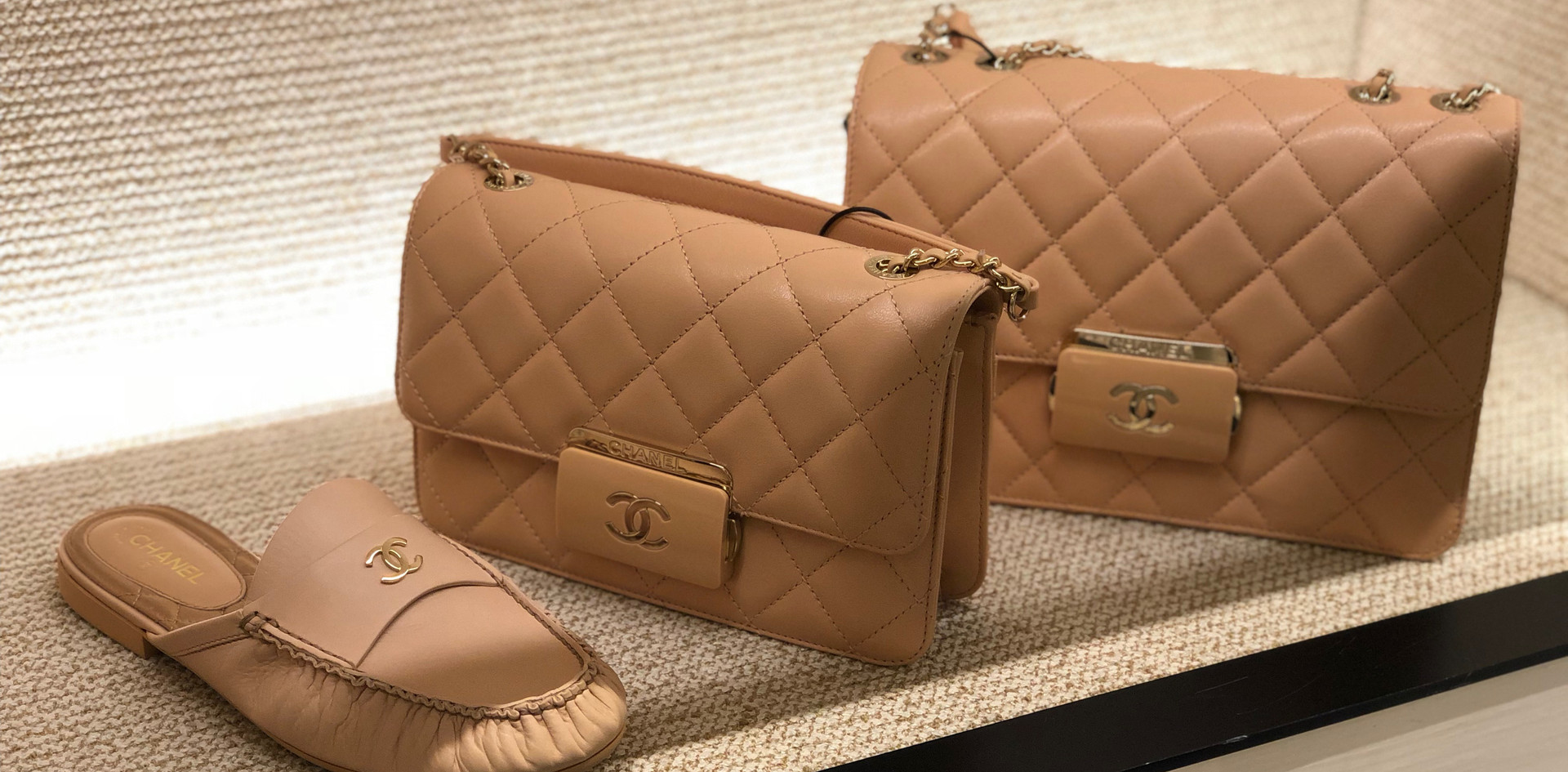 Chanel matching bag shoes