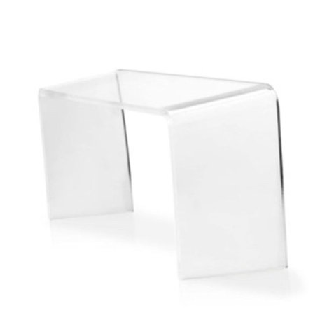 The PROPPR toilet Stool clear
