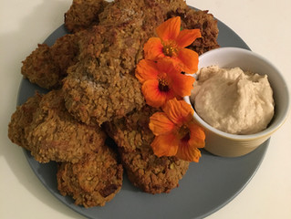 Sweet potato and falafel snacks