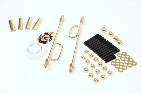 OLD-STF IRONHEAD SPORTSTER ENGINE HARDWARE - BRASS DRESS UP KIT
