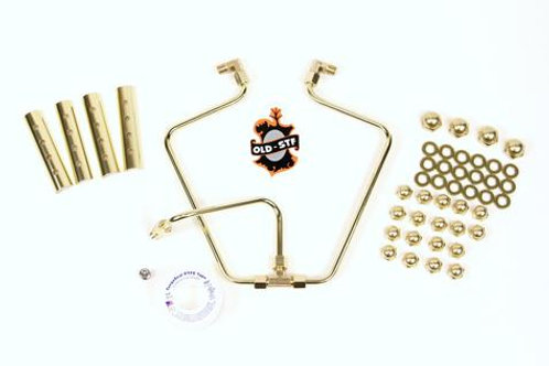 OLD-STF SHOVELHEAD ENGINE HARDWARE - BRASS DRESS UP KIT
