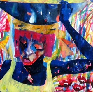 120x120 oil/oil pastel on canvas