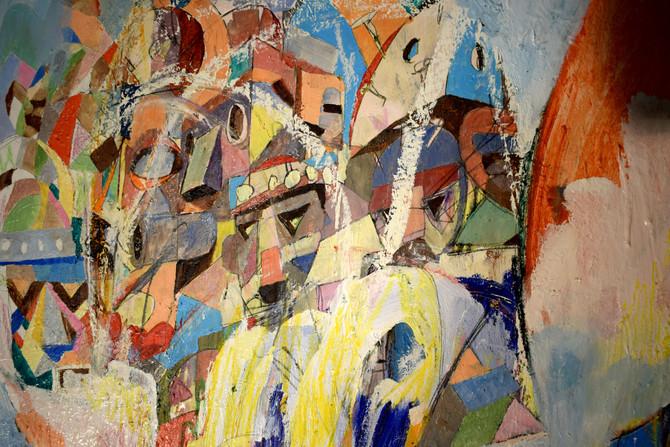 200x100 oil pastel/oil paint on canva